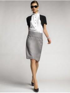 Минимальная длина юбки – чуть выше колена.